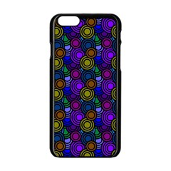 Circles Color Yellow Purple Blu Pink Orange Apple Iphone 6/6s Black Enamel Case by Alisyart