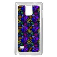 Circles Color Yellow Purple Blu Pink Orange Samsung Galaxy Note 4 Case (white) by Alisyart