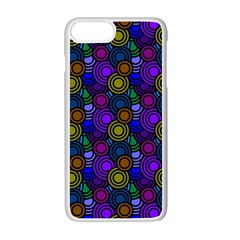 Circles Color Yellow Purple Blu Pink Orange Apple Iphone 7 Plus White Seamless Case by Alisyart