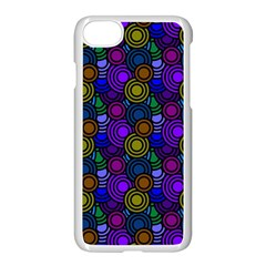 Circles Color Yellow Purple Blu Pink Orange Apple Iphone 7 Seamless Case (white) by Alisyart