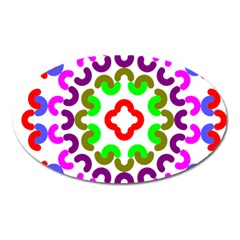 Decoration Red Blue Pink Purple Green Rainbow Oval Magnet by Alisyart