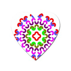 Decoration Red Blue Pink Purple Green Rainbow Heart Magnet by Alisyart