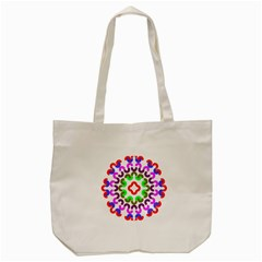 Decoration Red Blue Pink Purple Green Rainbow Tote Bag (cream)