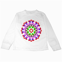 Decoration Red Blue Pink Purple Green Rainbow Kids Long Sleeve T-shirts by Alisyart