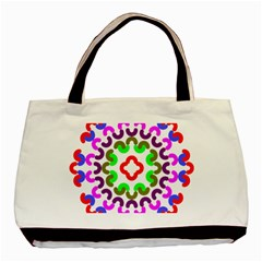 Decoration Red Blue Pink Purple Green Rainbow Basic Tote Bag by Alisyart