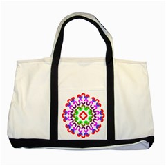 Decoration Red Blue Pink Purple Green Rainbow Two Tone Tote Bag by Alisyart
