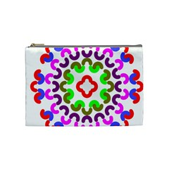Decoration Red Blue Pink Purple Green Rainbow Cosmetic Bag (medium)