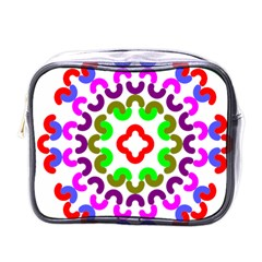 Decoration Red Blue Pink Purple Green Rainbow Mini Toiletries Bags