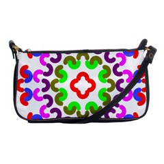 Decoration Red Blue Pink Purple Green Rainbow Shoulder Clutch Bags