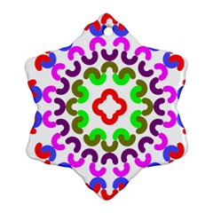 Decoration Red Blue Pink Purple Green Rainbow Ornament (snowflake) by Alisyart