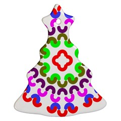 Decoration Red Blue Pink Purple Green Rainbow Ornament (christmas Tree)  by Alisyart