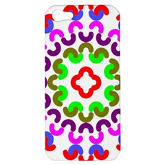 Decoration Red Blue Pink Purple Green Rainbow Apple Iphone 5 Hardshell Case by Alisyart