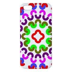 Decoration Red Blue Pink Purple Green Rainbow Apple Iphone 5 Premium Hardshell Case by Alisyart