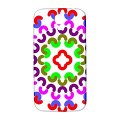 Decoration Red Blue Pink Purple Green Rainbow Samsung Galaxy S4 I9500/i9505  Hardshell Back Case by Alisyart