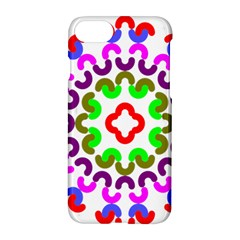 Decoration Red Blue Pink Purple Green Rainbow Apple Iphone 7 Hardshell Case by Alisyart