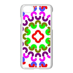 Decoration Red Blue Pink Purple Green Rainbow Apple Iphone 7 Seamless Case (white) by Alisyart