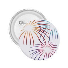 Fireworks Orange Blue Red Pink Purple 2 25  Buttons