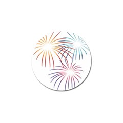 Fireworks Orange Blue Red Pink Purple Golf Ball Marker