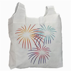 Fireworks Orange Blue Red Pink Purple Recycle Bag (one Side) by Alisyart