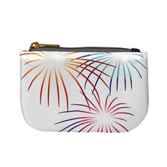 Fireworks Orange Blue Red Pink Purple Mini Coin Purses