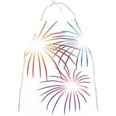 Fireworks Orange Blue Red Pink Purple Full Print Aprons