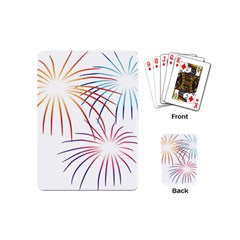 Fireworks Orange Blue Red Pink Purple Playing Cards (mini)  by Alisyart