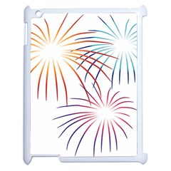 Fireworks Orange Blue Red Pink Purple Apple Ipad 2 Case (white)