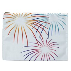Fireworks Orange Blue Red Pink Purple Cosmetic Bag (xxl)  by Alisyart