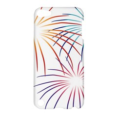 Fireworks Orange Blue Red Pink Purple Apple Ipod Touch 5 Hardshell Case by Alisyart