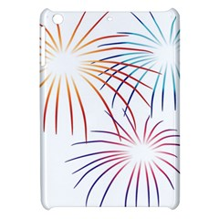 Fireworks Orange Blue Red Pink Purple Apple Ipad Mini Hardshell Case by Alisyart