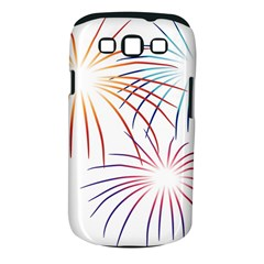 Fireworks Orange Blue Red Pink Purple Samsung Galaxy S Iii Classic Hardshell Case (pc+silicone) by Alisyart