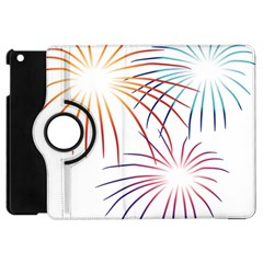 Fireworks Orange Blue Red Pink Purple Apple Ipad Mini Flip 360 Case by Alisyart