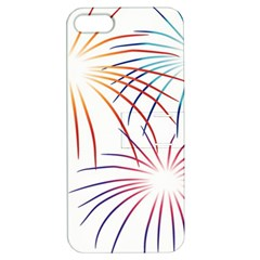 Fireworks Orange Blue Red Pink Purple Apple Iphone 5 Hardshell Case With Stand