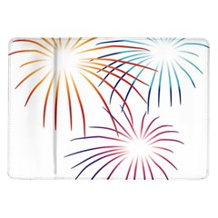 Fireworks Orange Blue Red Pink Purple Samsung Galaxy Tab 10 1  P7500 Flip Case by Alisyart