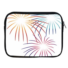 Fireworks Orange Blue Red Pink Purple Apple Ipad 2/3/4 Zipper Cases by Alisyart
