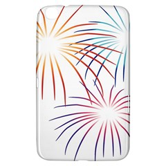 Fireworks Orange Blue Red Pink Purple Samsung Galaxy Tab 3 (8 ) T3100 Hardshell Case  by Alisyart