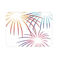 Fireworks Orange Blue Red Pink Purple Double Sided Flano Blanket (mini)  by Alisyart