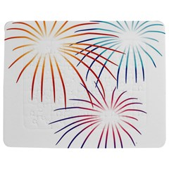 Fireworks Orange Blue Red Pink Purple Jigsaw Puzzle Photo Stand (rectangular)