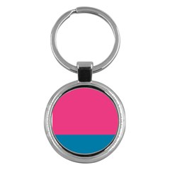 Flag Color Pink Blue Key Chains (round)  by Alisyart