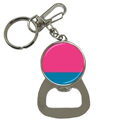 Flag Color Pink Blue Button Necklaces by Alisyart