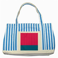 Flag Color Pink Blue Striped Blue Tote Bag by Alisyart