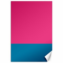 Flag Color Pink Blue Canvas 12  X 18   by Alisyart
