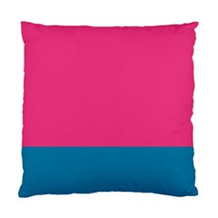 Flag Color Pink Blue Standard Cushion Case (two Sides) by Alisyart