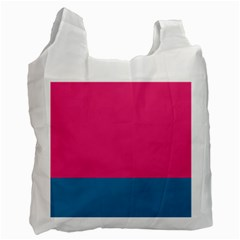 Flag Color Pink Blue Recycle Bag (two Side)  by Alisyart