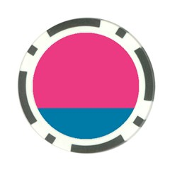Flag Color Pink Blue Poker Chip Card Guard (10 Pack) by Alisyart