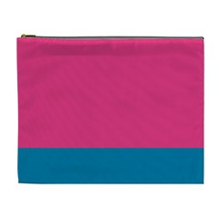 Flag Color Pink Blue Cosmetic Bag (xl)