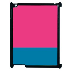 Flag Color Pink Blue Apple Ipad 2 Case (black) by Alisyart