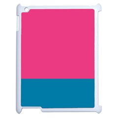 Flag Color Pink Blue Apple Ipad 2 Case (white)