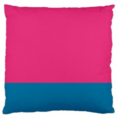 Flag Color Pink Blue Large Cushion Case (one Side) by Alisyart