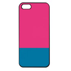Flag Color Pink Blue Apple Iphone 5 Seamless Case (black)